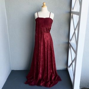 ANNY LEE Burgundy Formal Gown Size M
